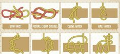 How To Tie these 40 Essential Knots You Need To Know - http://www.survivorninja.com/how-to-tie-these-40-essential-knots-you-need-to-know/