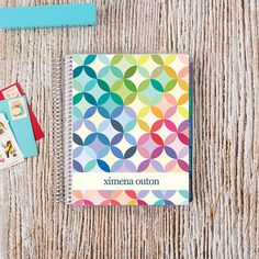 2016-17 #ECLifePlanner in Signature Mid-Century Circles. Choose your interior color theme (neutral or colorful), and then your weekly layout (weekly, horizontal or vertical)! #ErinCondren