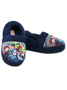 Officially Licensed Avengers  Thor Iron Man Boys Slippers Blue Various Sizes