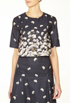 Floral Godet Tee by Suno