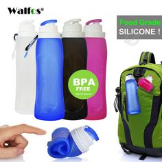 76 Walker Collapsible Travel Cup Portable Food Grade Sillicone Camping Coffee Mug with Lid Folding Outdoor Hiking Durable Drinking Bottle