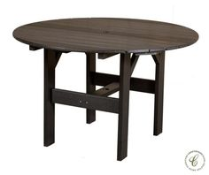 The Odessa Outdoor Table is constructed from durable, eco-friendly poly lumber engineered in the United States then assembled by our Amish artisans.