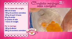 La ricetta della crostata meringata alla vaniglia di Vincenzo Monaco di del 25 settembre 2014 - Dolci dopo il tiggì Monaco, Macrame, Buffet, Anna, Catering Display, Lunch Buffet