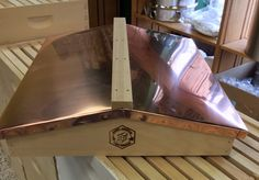 This beautiful Copper Hive Top will add beauty and elegance to your #bee yard. #beekeeping http://beewellhoneyfarm.com/product/copper-top-english-garden-cover/