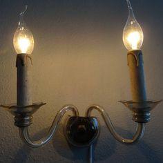 Venetiaanse wandlamp met twee kaarsen voor kleine fittingen
