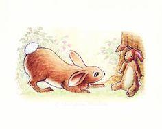 Nursery Art Velveteen Rabbit Print - Bunny - Children's Nursery - Velveteen Rabbit - 8x10 - Kids Baby Room Decor
