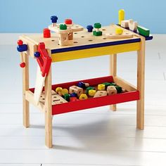 We believe girls and boys can play with any tow they want. This workbench can be used a million different ways, including as a workbench! #TheLandOfNod