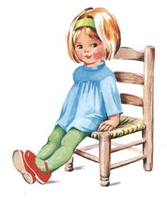 Toddler's Own Annual 1969 - girl sitting on chair by moonflygirl,