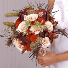 Earth Toned Bouquet! So cute for fall weddings!