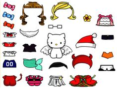 Cute Hello Kitty Paper Doll Template - Free Download | PaperCraft Art Creative