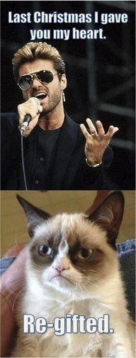 Grumpy Cat!  but i still love you, George Michael.