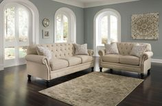 2 pc Kieran collection natural fabric upholstered sofa and love seat set with tufted backs. This set includes the Sofa and Love seat featuring tufted backs. Sofa measures x x H. Love seat measures x x H. Formal Living Rooms, Living Room Chairs, Living Room Furniture, Furniture Sets, Living Room Decor, Furniture Stores, Furniture Dolly, Furniture Outlet, Furniture Mattress