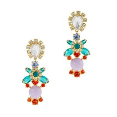@J.Crew Crystal color earrings