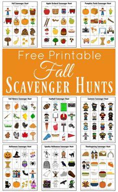 Free Printable – Fall Scavenger Hunt