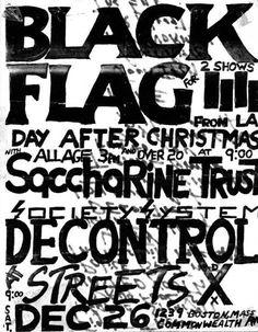 Love punk rock flyers