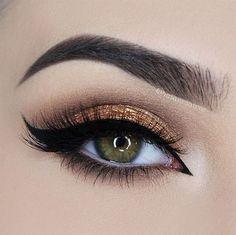 gold smokey eye ~ we ❤ this! moncheribridals.com