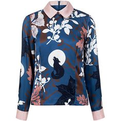 Paul & Joe Sister - Alalune shirt top found on Polyvore featuring tops, shirts, blue top, blue shirt, twill shirt, cuff shirts and shirt top