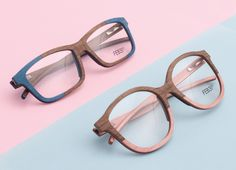 Wooden glasses made by #feb31st. Love the #colourblock #formethepinkoneplease
