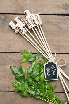 Wine Cork Garden Markers as a Welcome Home Gift | Cambria Wines