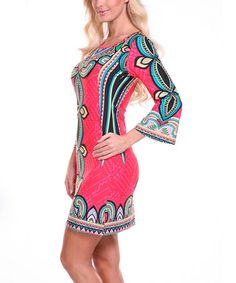 Look what I found on #zulily! Red & Blue Teardrop Scoop Neck Dress by White Mark #zulilyfinds