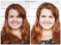 """Left: No makeup Right: """"No makeup"""" makeup"""