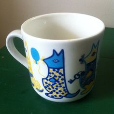 Vintage Arabia Finland Cats Children's Cup by OilCapitalVintage