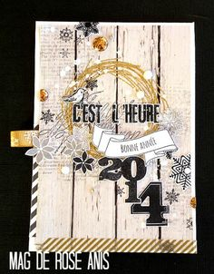 """Mag Rose Anis Collection tampons et matrices de coupe (dies) """"Au coeur de l'hiver"""""""