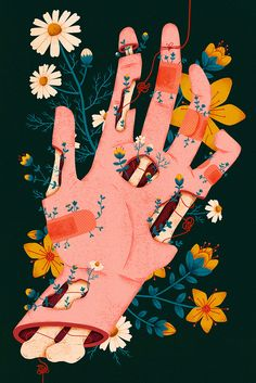 Illustration - illustration - Megan Sebesta illustration : – Picture : – Description Megan Sebesta -Read More – art illustration - Megan Sebesta - CoDesign Magazine Hand Illustration, Garden Illustration, Illustration Tumblr, Dark Art Illustrations, Creative Illustration, Pretty Art, Cute Art, Art Sketches, Art Drawings
