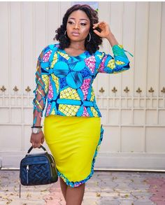There are certain clothes that are appropriate for church services while there are some that are not.we bring you Gorgeous Church African Print styles African Attire, African Wear, African Women, African Style, African Beauty, African Print Fashion, Africa Fashion, Fashion Prints, African Prints