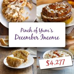 Pinch of Yum Income Report - December 2012