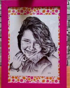 Portrait stylo bille.