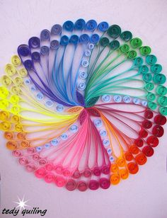 Quilling Picture COLOURS  Wall Art Decor  Quilling Art