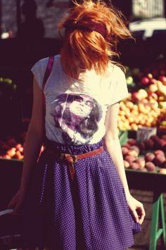 T-Shirt + Skater Skirt