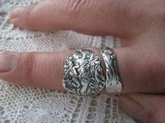 Great Sterling Silver Spoon Ring Spoon Jewelry Antique by TheBeadLadies, $75.00 - Helle knives