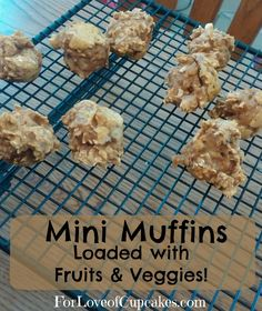 Delicious Healthy Mini Muffins Loaded with Fruits & Veggies - Quick & Easy! | @4LoveofCupcakes