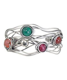 Look at this #zulilyfind! Silver & Blue Stone Twisted Strand Cuff by LOLO by New Dimensions #zulilyfinds