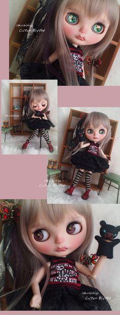 Custom Blythe Dolls: Sakura Ichigo Rock Baby Custom Blythe - A Rinkya Blog
