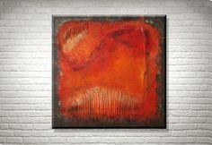 Fuego - Original Acrylbild von FarbenfrohGalerie auf Etsy #abstract #abstrakt #modernart #rothko #farbfeldmalerei #expressionism #expressionismus #painting #gemälde #homedecor
