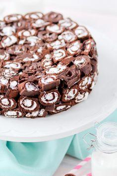 Swiss Roll Cake #cak