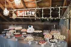 Tolle Inspirationen für ein Hochzeits-Dessert-Buffet