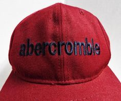 Vintage ABERCROMBIE & FITCH Co. Fitted Wool Baseball Cap Hat Red One Size Nwt #AbercrombieFitch #BaseballCap