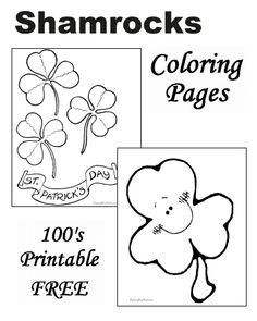 Shamrock Coloring Pages! Many printable sheets and pictures to choose!