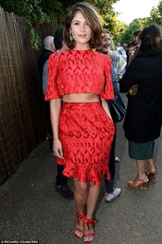 Gemma Arterton in Prabal Gurung - At the Serpentine Gallery Summer Party in London.  (July 2014)