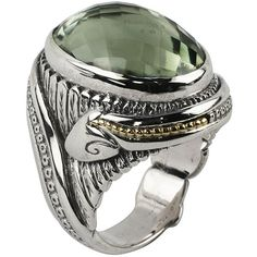 Konstantino Faceted Green Amethyst Carved Snake Ring ($882) ❤ liked on Polyvore featuring jewelry, rings, purple, sterling silver band rings, konstantino jewelry, coiled snake ring, carved ring and 18 karat gold ring