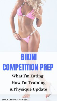 My Week 14 Update for NPC Bikini Competition Prep What I m Eating to Get Lean How I Train to Build Feminine Muscle emilycramerfitness # Fitness Bikini, Bikini Diet, Bikini Workout, Concours De Bikini Npc, Bikini Bodybuilding, Bodybuilding Diet, Npc Bikini Prep, Bikini Competition Prep, Figure Competition Diet