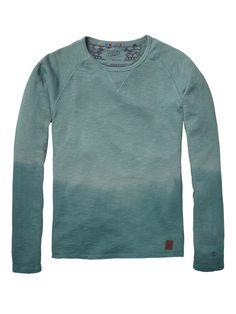 Slub Felpa Basic Crew Neck > Mens Clothing > Sweaters at Scotch & Soda