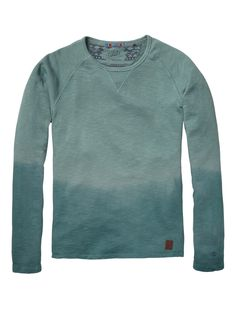 Slub Felpa Basic Crew Neck > Mens Clothing > Sweaters at Scotch & Soda