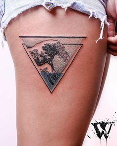 #would#wouldstudio#wouldtattoostudio#ink#tattoo#tattrx#design#art#ilustration#argentinatattoo#graphicdesign#wave#hokusai#hokusaiwave#tattooedgirl#legtattoo