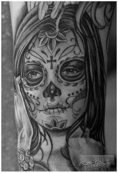 blk/gray sugar skull