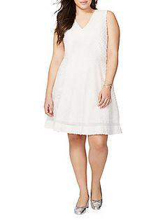 Rachel Roy Lace-Trimmed Sleeveless Dress